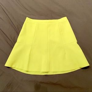 Jcrew neon yellow mini skirt